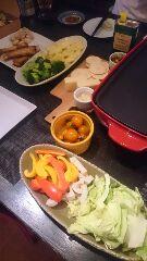 ラクレットと温野菜