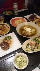 夏休み最終日夕食