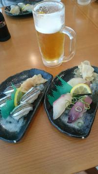 きびなご鮨とビール
