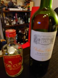 赤ワインとラム