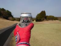 連休ゴルフビール