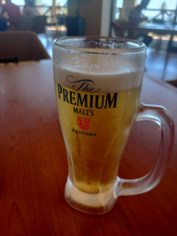 お盆ゴルフビール