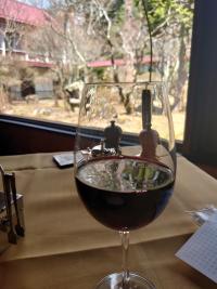 万平ホテルランチ赤ワイン