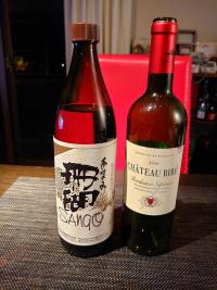 ワインと黒糖焼酎